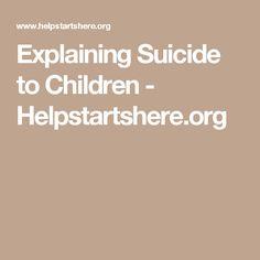 Explaining Children Suicide