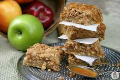 Caramel Apple Nut Bars