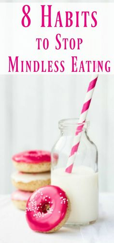 Healthy habits to successfully lose weight. How to lose weight. Healthy weight loss tips. 8 habits to stop mindless eating Weight Loss Snacks, Fast Weight Loss, Healthy Weight Loss, Weight Gain, How To Lose Weight Fast, Losing Weight, Mindless Eating, Easy Diet Plan, Easy Diets