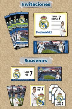 Kit Imprimible Christiano Ronaldo Real Madrid Personalizado - $ 500 en Melinterest
