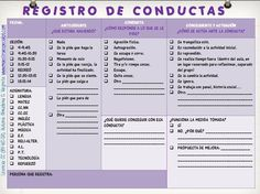 registro de conductas                                                       …