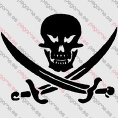 Pegame.es Online Decals Shop  #skull #dead #pirate #sword #vinyl #sticker #pegatina #vinilo #stencil #decal