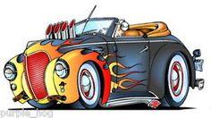 #JPHR3 T Shirt Hot Rod Merc Convertible Cool Rat Rod