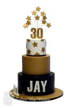 Ideas birthday cake black gold white for 2019 60th Birthday Cake For Men, 3 Tier Birthday Cake, White Birthday Cakes, Gold And White Cake, Black Gold, 30 Cake, Occasion Cakes, Celebration Cakes, Tiered Cakes