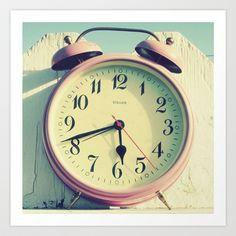 Pink Clock Art Print by simplyhue - $18.00
