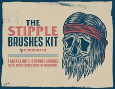 """Check out my @Behance project: """"The Stipple Brushes Kit"""" https://www.behance.net/gallery/58624633/The-Stipple-Brushes-Kit"""