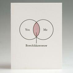 Venn Diagram Romance Card - Matthew Carroll: Art Director, Writer, Designer, Person