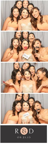 Look how many people can fit into a shot, using only 5x3 ft of your reception space!    Best of Mobile #photobooth #weddings, I just love this sweet photo strip from Robin & Daniel's 9.22 reception- super cute!