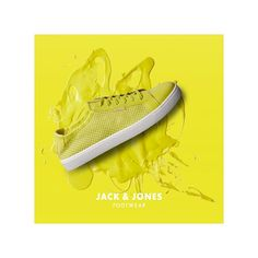 Spice up your outfit with a pair of yellow comfortable mesh sneakers. #jjfootwear #jackandjones #yellowshoes #sneakers #cool #fresh #menswear #styleno12107999