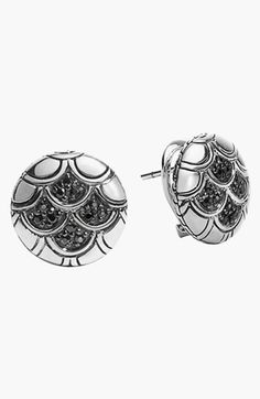 John Hardy 'Naga - Lava' Scale Stud Earrings available at #Nordstrom