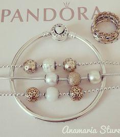 ♥️♥️♥️ the two toned designs ♥️♥️♥️ Pandora Jewelry Box, Pandora Bangle, Pandora Bracelet Charms, Jewelry Art, Jewelry Design, Pandora Essence Collection, Rose Gold Jewelry, Bracelet Designs, Tiffany