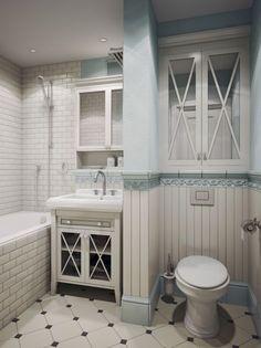 Фотография: Ванная в стиле Кантри, Советы, маленькая ванная – фото на InMyRoom.ru