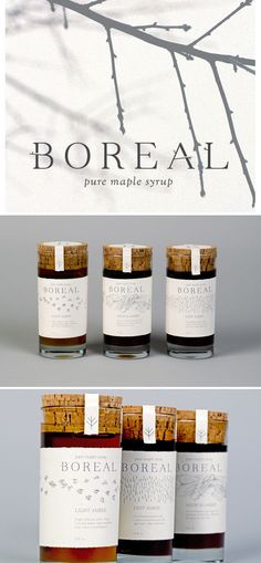 Boreal | Pure Maple Syrup by Kate Zane, via Behance
