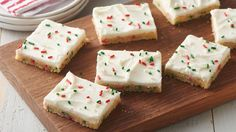 Enjoy these yummy bars made with Pillsbury® refrigerated sugar cookies – a perfect addition to Christmas dessert.