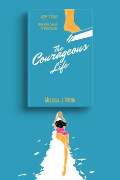 """Book cover for """"The Courageous Life"""". This book is about how to leap from your career to your calling. By this cover I tried to show emotions before the first step for life changes and leap into the ocean of boundless possibilities. Publishing, Illustration, Graphic design, Vector illustration, Illustrator, book, book cover, cover, Illustration, Vector Illustration, Vector Art, Digital Art, Vector, Illustrator."""