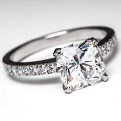 With a princess or radiant or cushion cut center stone...