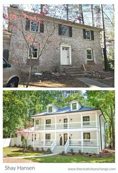 Amazing before and after home exterior and interior renovation.
