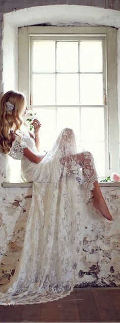 Boho-Chic Lace Off the Should Wedding Dress :: 2017 Wedding Trends…  Boho-Chic Lace Off the Should Wedding Dress :: 2017 Wedding Trends  http://www.beautyfashionfragrance.us/2017/05/25/boho-chic-lace-off-the-should-wedding-dress-2017-wedding-trends/