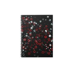 Geometric Goth Abstract Art Notebooks by Gothic Toggs