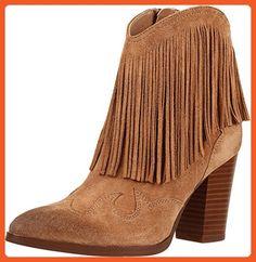 493610bbd Sam Edelman Women s Benjie Golden Caramel Velour Suede Leather Boot 11 M -  Boots for women