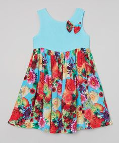 Love this Blue Floral Tank Dress - Infant, Toddler & Girls on #zulily! #zulilyfinds