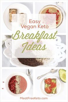 East Vegan Keto Breakfast Ideas Low carb gluten free sugar free recipes to get you through the morning Vegan Keto Diet, Vegan Keto Recipes, Vegetarian Keto, Ketogenic Diet, Zuchinni Recipes, Eating Vegan, Vegan Life, Diet Recipes, Recipies
