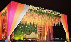 Pastel Themed Wedding Decorations that are Way Too Prett Reception Stage Decor, Wedding Backdrop Design, Wedding Stage Design, Wedding Reception Backdrop, Event Decor, Wedding Mandap, Wedding Receptions, Desi Wedding Decor, Wedding Hall Decorations