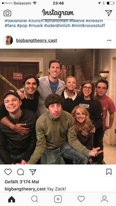 Big Bang theory with Zak Big Bang Theory Quotes, Big Bang Theory Funny, The Big Theory, Chuck Lorre, Jim Parsons, Funny Films, Brooklyn Nine Nine, Film Serie, Celebs