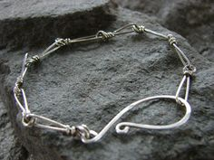 Relic Barbed Wire Links Bracelet in Sterling Silver by metalology, $56.00