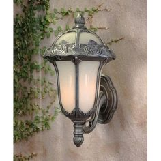 Special Lite Products Rose Garden 1 Light Outdoor Sconce Shade Color: Frosted, Finish: Swedish Silver
