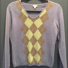 Sky blue cashmere sweater Really cute sweater, good used condition. 100% cashmere Apt. 9 Sweaters V-Necks