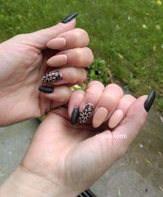 long nails, mandala nails #longnails #semilac #hybridnails #blackmatt Mandala Nails, Long Nails, Nailart, Beauty, Beauty Illustration