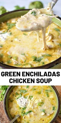 Green Enchiladas Chicken Soup (Keto Slow Cooker Mexican Soup) Green Enchiladas Chicken Soup (Keto Slow Cooker Mexican Soup),Chicken Recipes This Mexican soup recipe is keto and low carb friendly which will make everyone happy! Slow Cooker Recipes, Crockpot Recipes, Cooking Recipes, Healthy Recipes, Cooking Food, Delicious Recipes, Healthy Food, Mexican Soup Recipes, Yummy Chicken Recipes