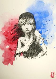 My tribute to Les Misérables Ink and watercolor on Moleskine art book