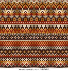 Seamless knitted pattern in traditional Fair Isle style