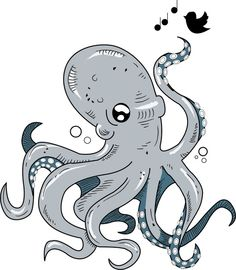 Octopus Friend Art Print