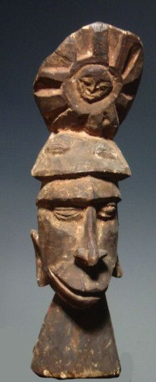 Old Asmat Ancestor Head Colonial Coll Papua New Guinea