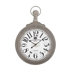 Haymarket Wall Clock In Preda Aged Grey 351-10244