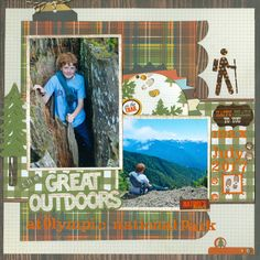 Grandson Max ...the Great Outdoors - Simple Stories - Take a Hike Collection
