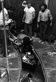 Filming an overhead shot on the set of Taxi Driver (1976)