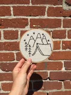 Simple Living: Tent Camping Embroidery Hoop by Sporeadic on Etsy