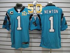23eb226a3 Falcons Julio Jones jersey Nike Panthers Cam Newton Blue Alternate With C  Patch Super Bowl 50 Men s Stitched NFL Elite Jersey