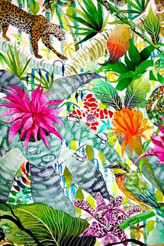 Jungle Imaginings close up II - Kate Morgan - Artist