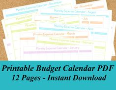 INSTANT DOWNLOAD Printable Check Register PDF, 4 Pages http://www ...