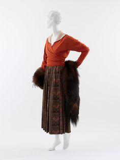 Feuille d'automne, Paul Poiret (French, Paris 1879–1944 Paris): 1916, French, silk, fur and silk.