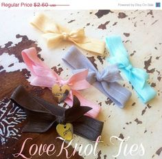Sale 50 Off EVERYTHING New 5 LoveKnot Hair Ties by CocoChicCouture, $1.30
