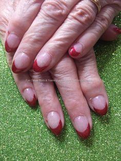 Gel 21 red gel polish tips
