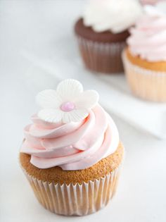 Cupcake with white blossom
