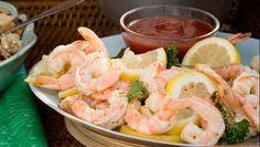 Beer-boiled shrimp cocktail via relish.com