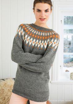 Bilderesultat for kofter til dame Knitting Designs, Knitting Patterns, Fair Isle Pullover, Icelandic Sweaters, Fair Isle Pattern, Fair Isle Knitting, Vintage Knitting, Autumn Winter Fashion, Knit Crochet
